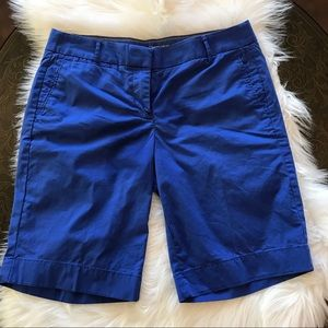 J. Crew Blue Bermuda Chino Shorts Size 4